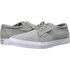 Reef Ridge (Grey) Men's Lace up casual Shoes (150 BRL) ❤ liked on Polyvore featuring men's fashion, men's shoes, men's sneakers, grey, men's low top sneakers, mens grey sneakers, mens canvas sneakers, mens shoes and reef mens shoes