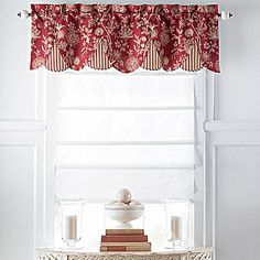 (Saw them in the store and they are made with a nice heavy cloth.) They show them in a kitchen here but I'm thinking they could work anywhere I tell them to work.maybe the black flowered and striped for the loft. Drapes Curtains, Curtain Valances, Window Valances, Drapery, French Country Curtains, Window Toppers, Custom Window Treatments, Window Styles, Window Design