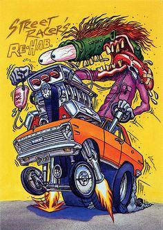 Rat Fink Ed Big Daddy Roth - Street Racers Rehab