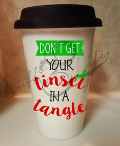 Don't Get Your Tinsel in a Tangle Ceramic by CuffLifeBoutique
