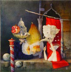 Zdenek Janda Pomegranate, Surrealism, Mystery, Den, Illustration, Painting, Magic, Dreams, Friends