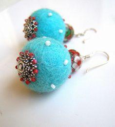 felt earrings...cute!