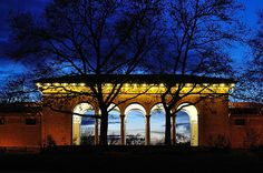 Cincinnati - Night shot at Mt. Echo Park Pavilion