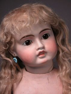 Sonneberg, circle dot Bru inspired german doll