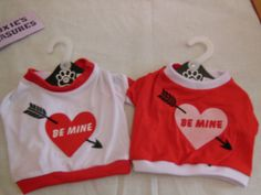 DOG VALENTINES DAY T-SHIRT  BE MINE RED OR WHITE SMALL TO XXL T SHIRTS NEW