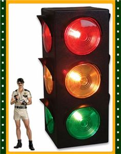 Green Stoplight Lamp 1 pc - Great for Kids Themed Parties 8 inches Cool and Fun Bright Lights Kicko Traffic Light Lamp with Base Yellow Birthdays Perfect Party Decorations Flashing Red