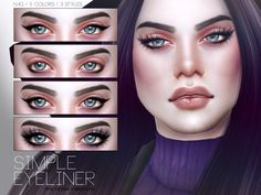 The Sims Resource: Simple Eyeliner N42 by Pralinesims • Sims 4 Downloads