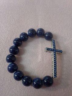 Blue horizontal cross