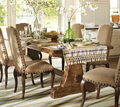 Sawyer Extending Dining Table | Pottery Barn