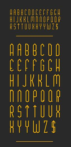 TUA Type by Shadz XIII, via Behance