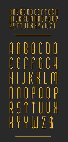 TUA Type by Shadz XIII, via Behance