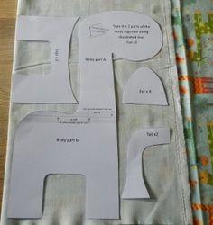 step 2 cutting giraffe soft toy free tutorial pattern riley blake giraffe crossing
