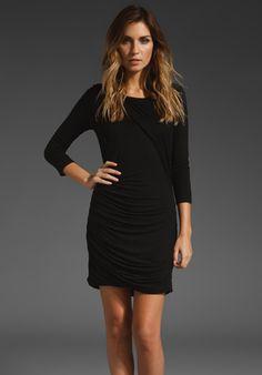 Chelle Slinky Rayon Dress in Black / Velvet  {need a new little black dress}