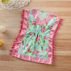 Tassel Silk Floral Dress Pajamas from kidspetite.com! Adorable & affordable baby, toddler & kids clothing. Shop from one of the best providers of children apparel at Kids Petite. FREE Worldwide Shipping to over 230+ countries ✈️ www.kidspetite.com #girl #sleep #pajamas #infant #baby #newborn Baby Girl Pajamas, Silk Floral Dress, Kaftan, Kids Outfits, Instagram Posts, Clothes, Shopping, Tops, Dresses