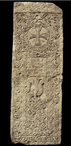 Coptic christian Limestone gravestone possibly from Thebes, century AD, Coptic period, Egypt. Ancient Art, Ancient Egypt, Ancient History, Art History, Fall Of Constantinople, Ancient Mesopotamia, Byzantine Art, Historical Artifacts, Celtic Art