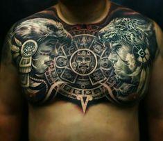 Azteca Tattoo #Aztec #Tattoos #AZTLAN