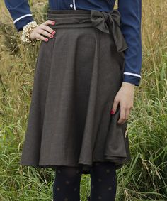 Love this Brown Bow Alexandria A-Line Skirt on #zulily! #zulilyfinds