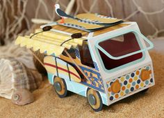 Awesomely creative surfer van by Tamara Tripodi (svgcuts) - love it!