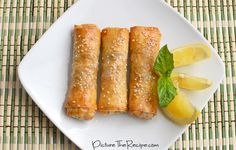 Thai Basil Chicken Egg Rolls (except replaced the chicken with portabella mushrooms