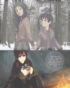 """""""You promised you would protect her!"""" Remember when Nico was an adorable 10 year old, then Bianca died... D: Feels.."""