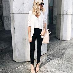 White, black, and blush.