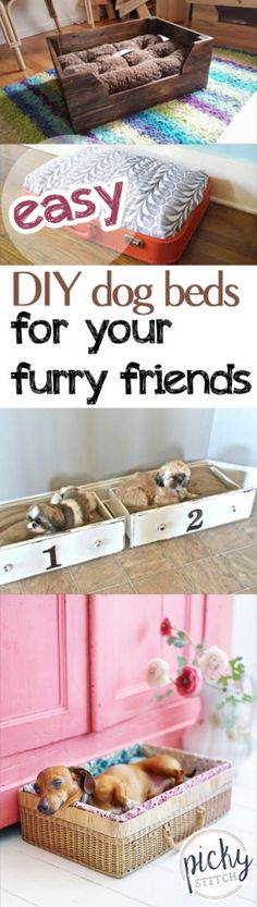 Easy DIY Dog Beds for Your Furry Friends -