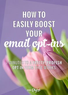 How to get more email subscribers in 7 minutes or less (a smart video tutorial for bloggers + entrepreneurs)