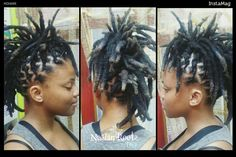 Mohawlk styled locs done at rhe nubian roots by toya salon.