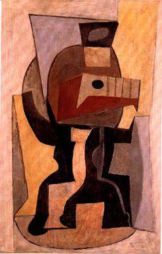 TICMUSart: Guitar on pedestal - Pablo Picasso (1920) (I.M.)