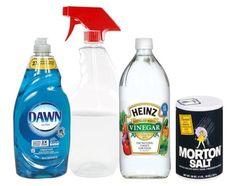 Veľký výber užitočných a dobrých nápadov pre efektívnejšie pestovanie rastlín v črepníkoch aj v záhrade | Babské Veci Dawn Vinegar, Morton Salt, Spray Bottle, Cleaning Supplies, Ale, Garden, Garten, Cleanser, Gardening