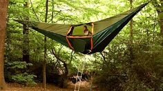 "Massive Hammock Tent Is a Portable Treehouse ... Neatorama - ""Tentsile has taken the hammock tent concept and pushed it to an extreme. The picture below doesn't do it full justice. There's a third segment projecting out the back. The entire assembly can house five to eight people."