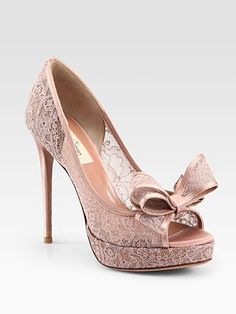 Valentino - Lace Couture Bow Pumps - Saks.com