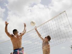 Get a work out on the beach volleyball court!