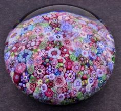 Baccarat Millefiore Paperweight - Canes include  signs of the zodiac