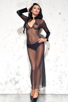 Эротичная сорочка длинная прозрачная черная Me Seduce MeS_Sarah Black, купить за 2730руб. в интернет магазине!