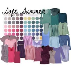 These are shades of the colors that I mentioned in my notes: Soft Summer - The Colors