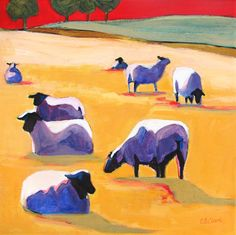 A World of Their Own - painting by Carolee Clark