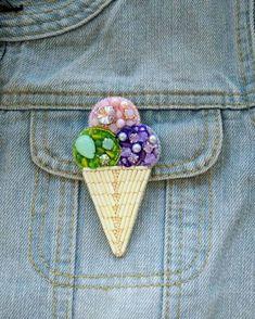Всем привет! Сегодня покажу вам брошечку для тех, кто готовится к весне и следит за фигурой Можно не бояться, что это мороженое…