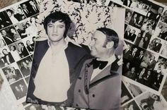 ELVIS with Emilio Muscelli, the original Maitre d at the Las Vegas Hilton for all of Elvis performances