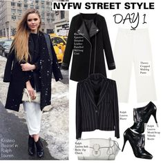 NYFW STREET STYLE Day1-Kristina Bazan in Ralph Lauren by kusja on Polyvore featuring Ralph Lauren, Theory, StreetStyle, NYFW, BloggerStyle, fashionWeek and newyorkfashionweek