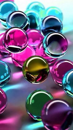 Purple marbles