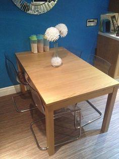 Ikea BJURSTA table and TOBIAS chair dining set New Condo Decor