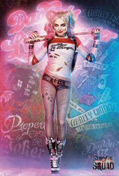 A fantastic poster of Margot Robbie as Harley Quinn from the DC Comics movie Suicide Squad! Check out the rest of our awesome selection of Harley Quinn posters! Need Poster Mounts. Joker Und Harley Quinn, Der Joker, Margot Robbie, Wonder Woman Comics, Dc Comics, Harey Quinn, Suicide Squad, Daddys Little Monster, Super Heroine