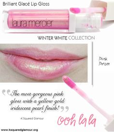Pink Prism by Laura Mercier is such a GORGEOUS pink gloss with a yellow gold iridescent pearl finish