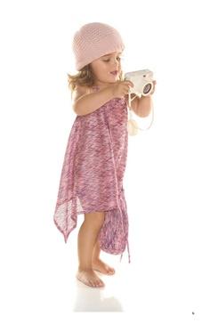 Little Alexis-Little Randi-Trapeze Knit Dress in Ziggy Magenta