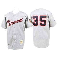2dd914372f9 Phil Niekro 1969 Atlanta Braves Mitchell   Ness Authentic Throwback Jersey  - Gray