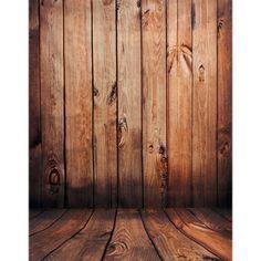 Wooden Wall Floor Vinyl Photo Background Photography Studio Backdrop Props