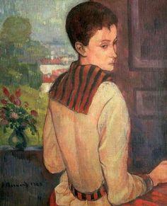 1888 Émile Bernard (French artist, 1868-1941) Madame Schuffenecker
