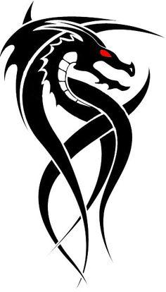 Tribal Dragon Tattoos   Tribal Dragon Tattoo Designs