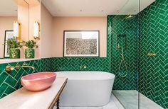 46 Ideas art deco design ideas beautiful for 2019 Bathroom Wall Decor, Bathroom Colors, Bathroom Interior Design, Decor Interior Design, Modern Bathroom, Small Bathroom, Bathroom Green, Interior Modern, Bathroom Ideas